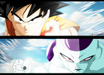 Fukkatsu no F Manga #3 Goku and Freezer Colored by ElietZero