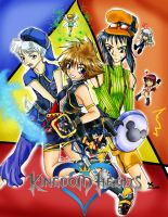 Kingdom Hearts....3k? colored by jolynnmangaka