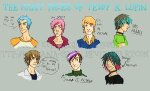 The Many Faces of Teddy Lupin by kailana-sama