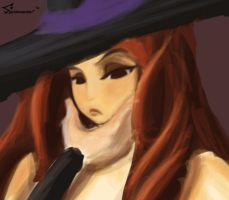 Dragon's Crown (WIP): Sorceress by southpawper