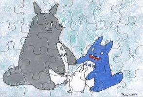Totoro puzzle by AngelicalDesign