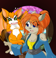Ginger and Fidget by oreana