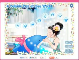 A Dolphin Kiss Game by willbeyou