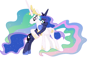 Celestia, Luna and Nightmare (Resources) by 90Sigma