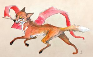 The Fox and The Flag by Saagai