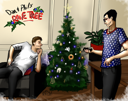 [GIF] Dan and Phil's Rave Tree by MartyOfLungbarrow
