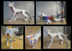 Clay Rainbow Dragon by JulieSchuster