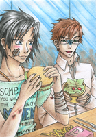 How about salad for once? ACEO 070 by SomedaySakuhin