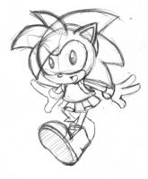 Classic Amy Rose Sketch by rongs1234