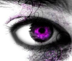 Goth purple eye by Sochead21