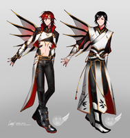 Seraph Adoptables I (closed) by Leirix