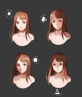 Simple Face Lighting Reference by SYSEN