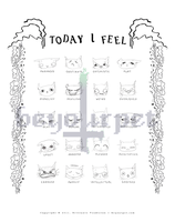 Cat Mood Magnet Chart Type 2 by beyourpet