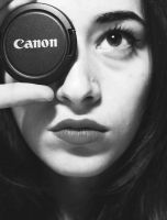the girl behind the camera. by HQheart