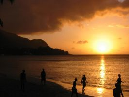 Sunset in Seychelles by disok