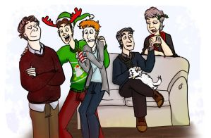 The MJN christmas party by artemisrox