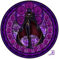 Commission: Stained Glass: Lelouch by Akili-Amethyst