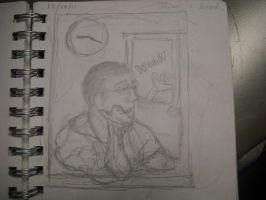 Jared is Bored in Class by InsanePaintStripes