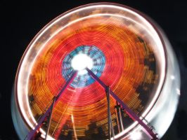 Ferris Wheel at Night by electricjonny