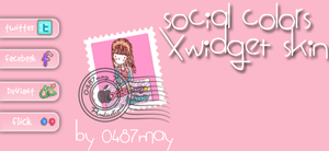 Redes Sociales, Skin Xwidget by may0487