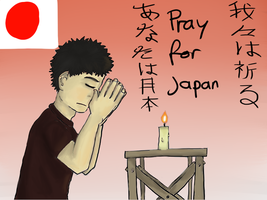Pray for Japan by gamertjecool