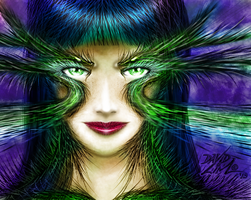 Green Eyed Lady by dnewlenox