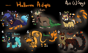 Halloween Adoptables CLOSED by SpytDragonFyre