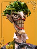 The Joker Leather Sculpture  Head and Shoulders by MedusaWood