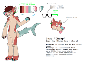 Chad 'Chomp' ref sheet by grotesqueGuts