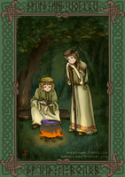 [APH][England,Russia] Druid and Volkhv by Margo-sama