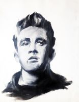 James Dean - Oil by justcallmemike
