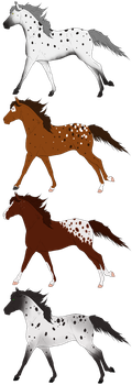 Horse adopts set 07 OPEN by Adopt-A-Shaddix