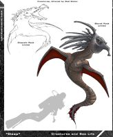 Sea Monster Concept Art by Hyptosis