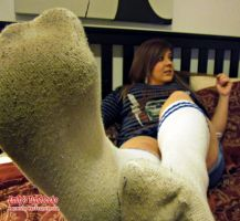 Emily Lounging in Dirty Tubesocks by SoxSnake