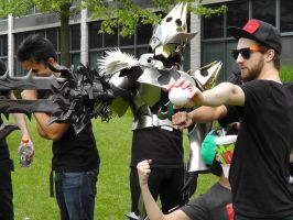 Team Rocket and Keyblade Warrior at AnimeNEXT 2012 by FUBARProductions