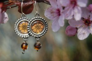 White Lotus Earrings by zeldalilly