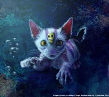 Underwater kitty by noo