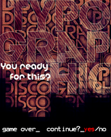 Discographic Typographic by Renacido