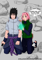 SasuSaku moment in the war. by byBlackRose