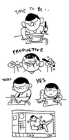 being productive by tontoh