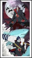 Itachi/Kisame poster by BourneLach
