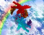 Friendship in the Sky by tadpoulle