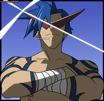 Kamina: Colored by zomgspongelolbob48
