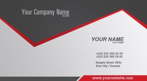 Trendy Business Card by Cech1330