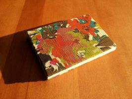 Floral Cloth Covered Book by Pepper-Dragon