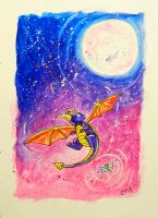 Spyro -  High Up - Inspired by TANKERO by MissMachineArt