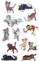 Warrior Cats Adoptables [CLOSED] by ArchSerpent