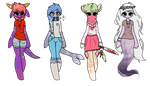 Humanoid auction adopts (CLOSED) by snowgraywhite
