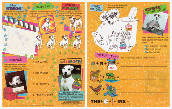 Wendy's Kid's Meal - Wishbone Pen Activity Sheet by The-Toy-Chest