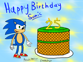 Happy 25th Birthday Sonic The Hedgehog by HuswserStar